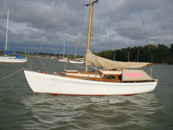 for sale   laurent giles vertue wooden sailing yacht