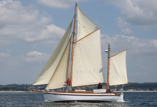 Colin Archer Gaff Ketch Wooden Sailing Yacht For Sale