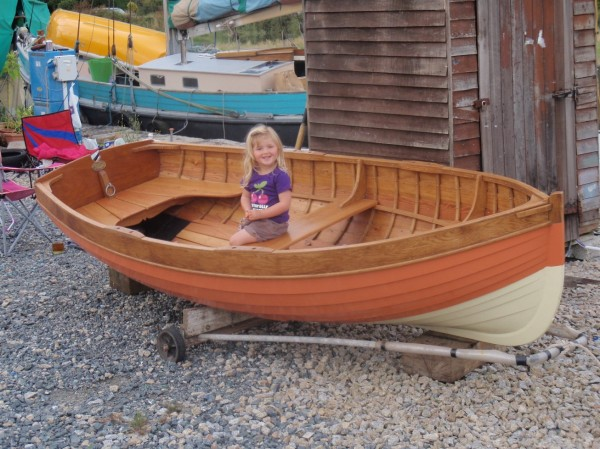 New build, traditional clinker wooden rowing boat for sale