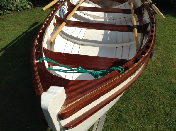 Christmas Wherry Wooden Rowing Boat For Sale