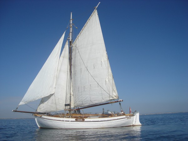 Colin Archer type Gaff Cutter wooden sailing yacht for sale