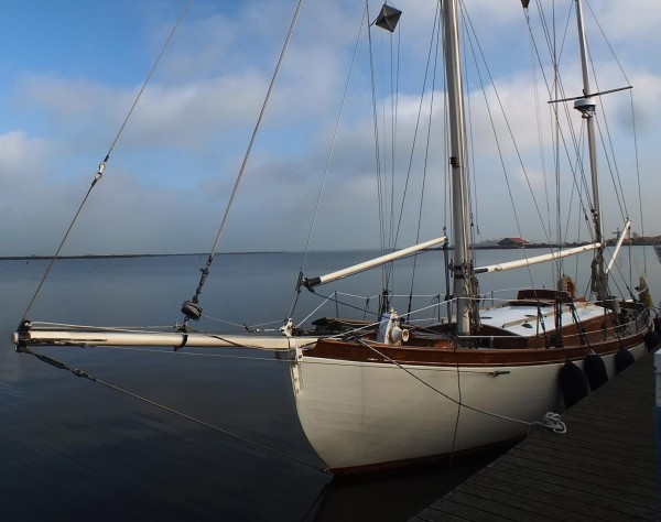 Classic Bermudan Yawl Wooden Sailing Yacht For Sale