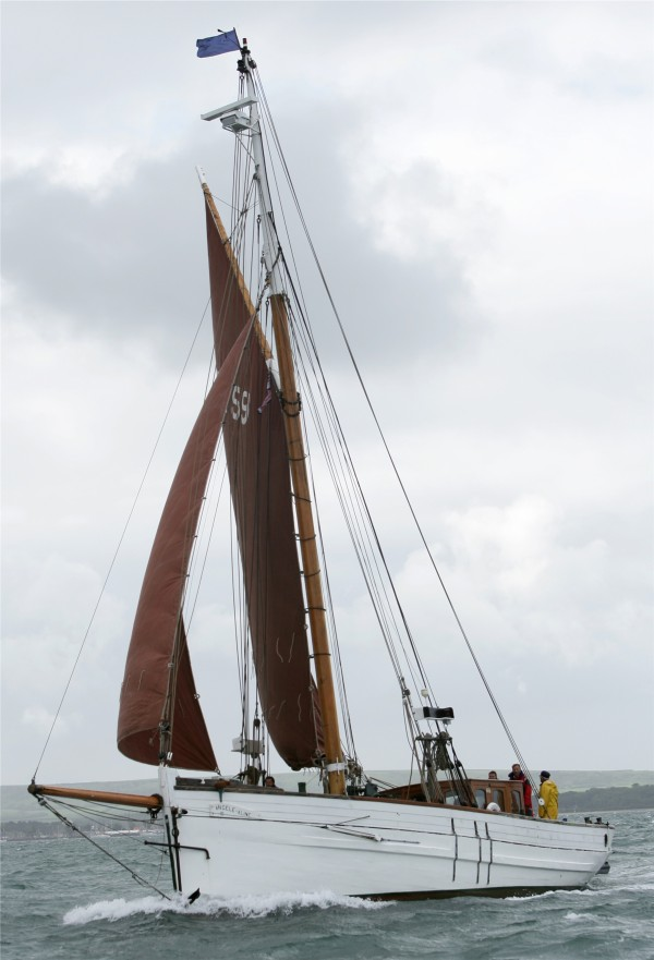 Historic French sailing fishing boat