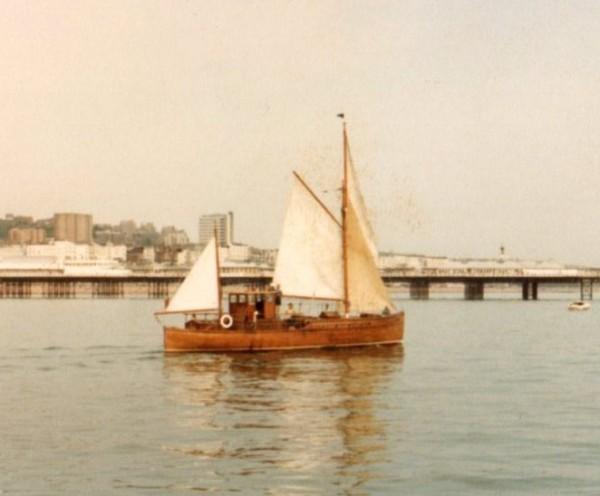 Vintage Mylne motor sailer