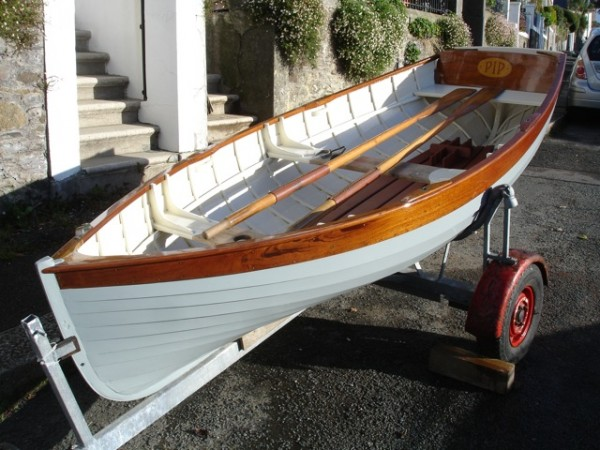 Morgan Giles rowing dinghy