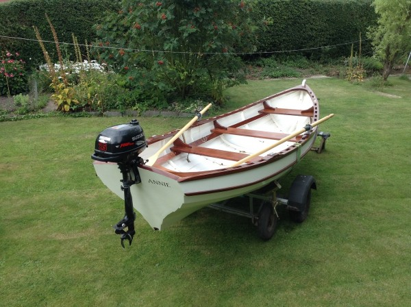 Christmas Wherry rowing boat