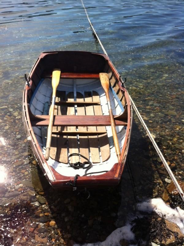Pram dinghy wooden sailing boat for sale