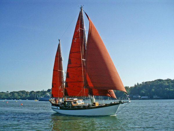 John Negus Bermudan Ketch Wooden Sailing Yacht For Sale