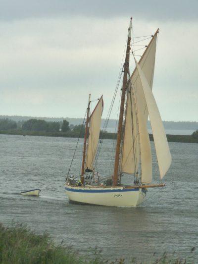 Colin Archer Gaff Ketch Sailing
